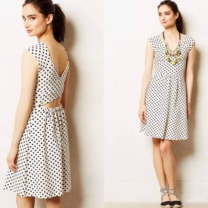 Postmark matilde polka dress sz 6 Small open back